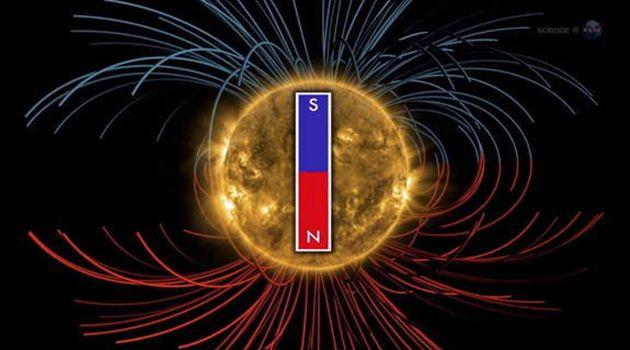 The sun's magnetic field is gearing up to shift. Photo: NASA