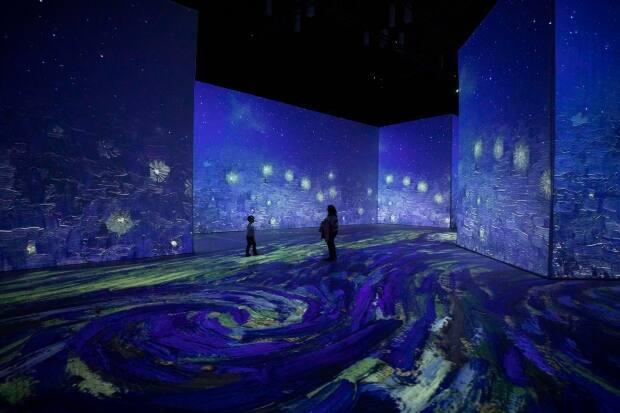 Imagine Van Gogh is an immersive exhibit featuring the famed painter's work. It opens at the Vancouver Convention Centre on March 19. (Ben Nelms/CBC - image credit)