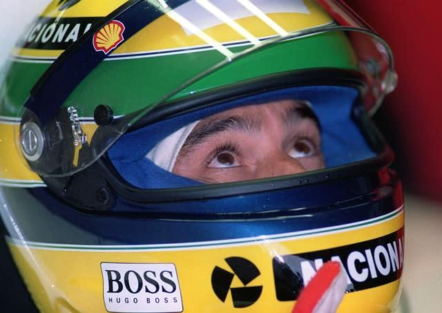 The Brazilian in the cockpit of his car during practice for the 1993 European Grand Prix (David Jones/PA)
