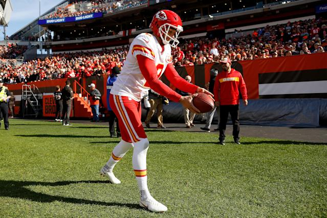 Dustin Colquitt hasn't seen the field all that much in 2018. (Getty Images)