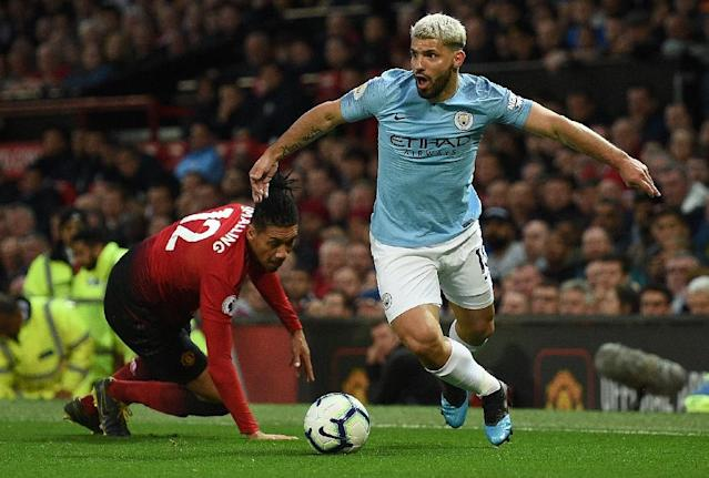 Manchester United could not keep up with Sergio Aguero and Manchester City (AFP Photo/Oli SCARFF )