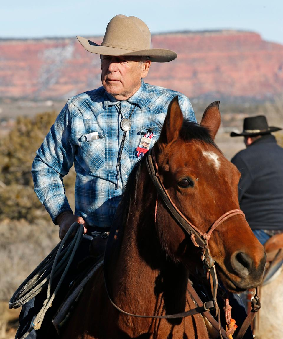 Cliven Bundy continues to graze cattle on federal land without paying fees. (Photo: George Frey via Getty Images)