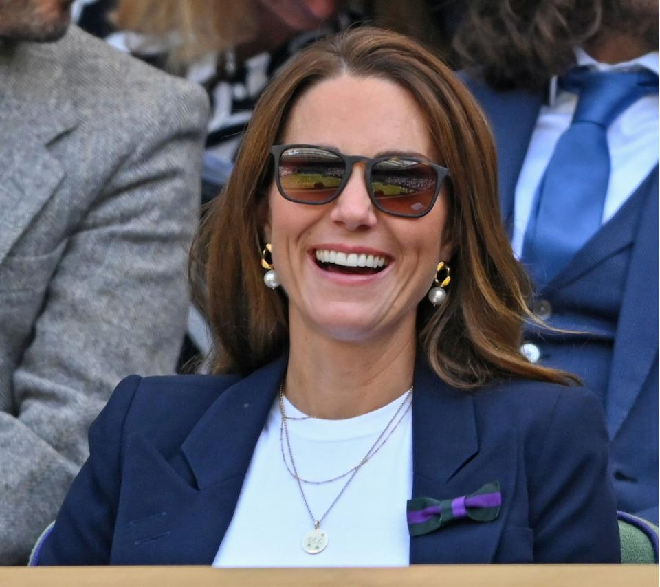 Kate Middleton wore her trusty Ray-Ban sunglasses to Wimbledon (Image via Getty Images)