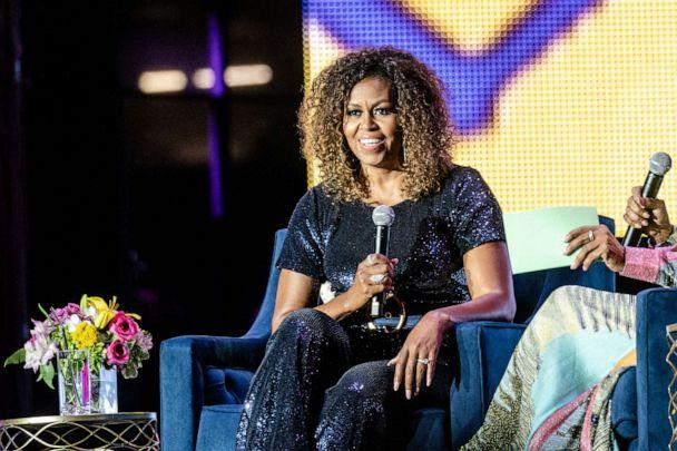 PHOTO: Former First Lady Michelle Obama is interviewed at the 25th Essence Music Festival at The Mercedes-Benz Superdome in New Orleans, July 06, 2019. (FilmMagic via Getty Images, FILE)