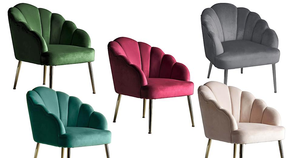 The chair comes in six different designs including green, pink and grey. (Homebase)