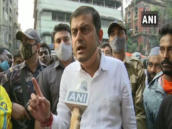 BJP Yuva Morcha holds protest over law and order situation in West Bengal