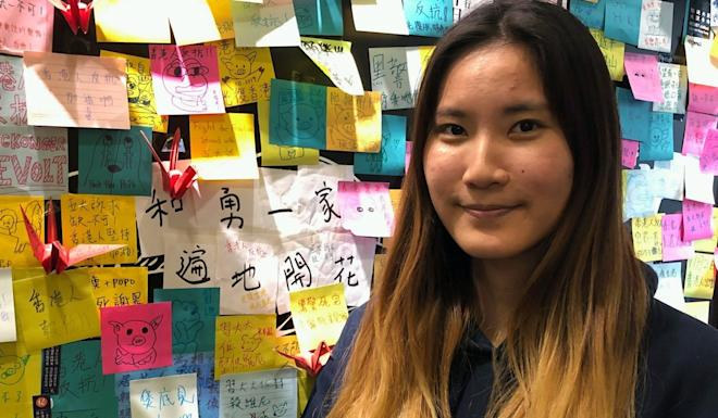 """Chan Wing-yan was part of a student delegation to Taiwan to lobby for """"a refugee law"""" for Hong Kong fugitives. Photo: Josephine Ma"""