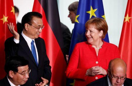With raft of deals, China and Germany swear to keep trade free