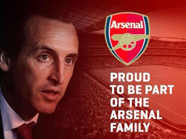 Arsenal have confirmed the arrival of former PSG boss Unai Emery