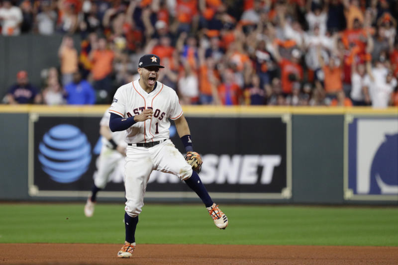 The Astros are the heaviest World Series favorites in over a decade. (AP Photo/Eric Gay)