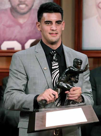 Heisman winner Marcus Mariota from Oregon could be the No. 1 pick in the draft. (AP)