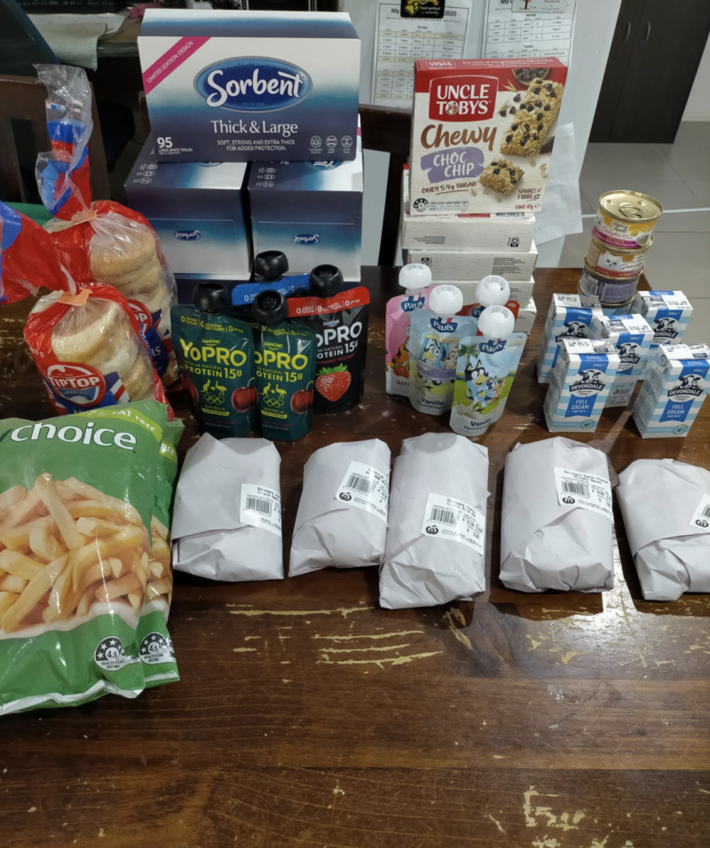 Photo shows a haul of Woolworths products that earn more Ooshies.