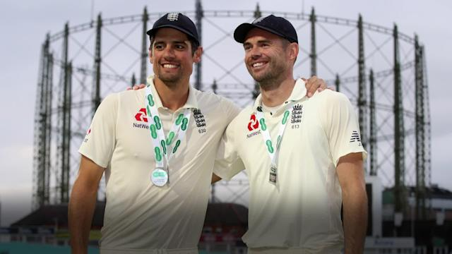 "James Anderson is already steeling himself for life as an England cricketer without his ""idol"" Alastair Cook by his side. (PA)"