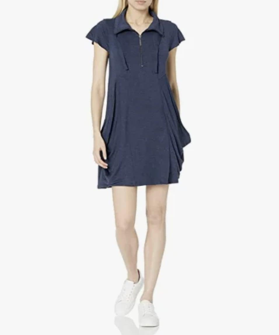 <p>This easy-to-wear <span>Kensie Drapey French-Terry Dress</span> ($43 - $52) will become your new weekend uniform.</p>