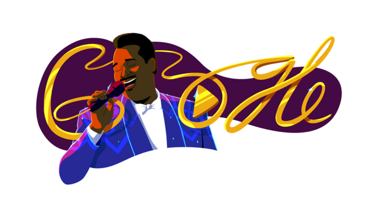Google Doodles celebrates Luther Vandross' 70th Birthday with Artwork by Sam Bass.
