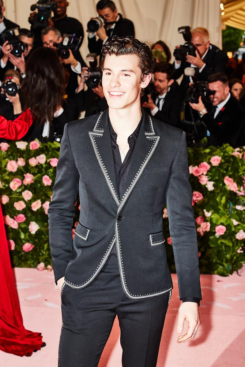 Shawn Mendes on the red carpet at the Met Gala in New York City on Monday, May 6th, 2019. Photograph by Amy Lombard for W Magazine.