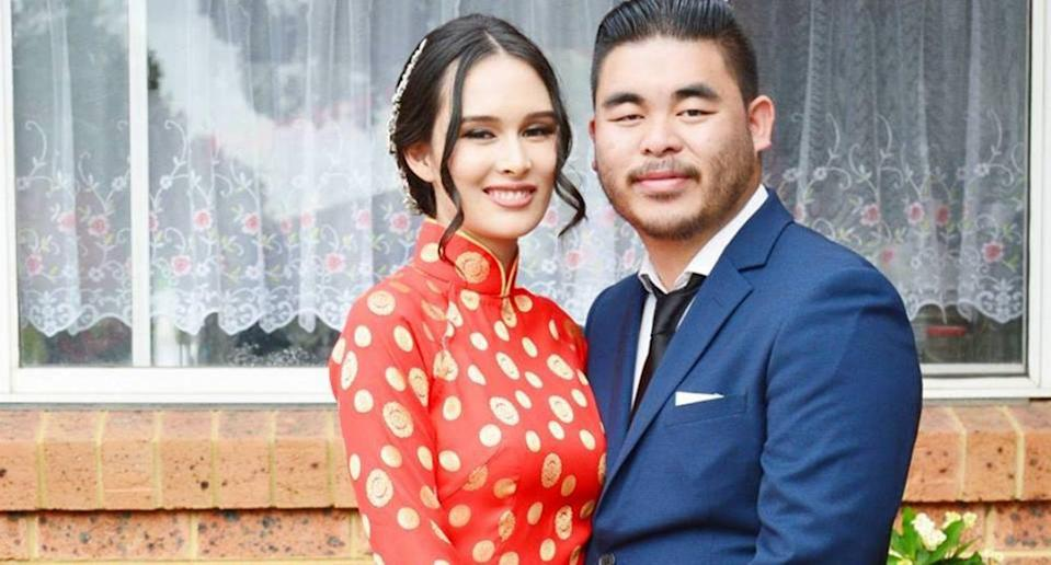 Bronco Hoang was reportedly sedated after discovering his wife and unborn twins had been killed in a car crash. Source: Facebook