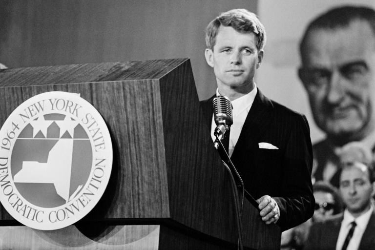A view of Robert F Kennedy, brother of the late president John F Kennedy