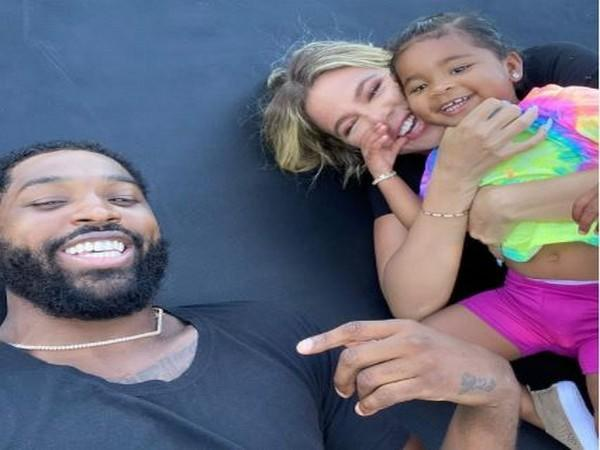 Tristan Thompson with Khloe Kardashian and daughter True Thompson (Image Source: Instagram)