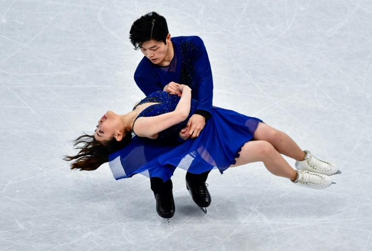 Maia and Alex Shibutani of the US compete to place third in the Ice Dance / Free Dance event at the ISU World Figure Skating Championships in Helsinki, in April 2017