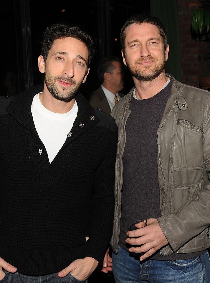 "<a href=""http://movies.yahoo.com/movie/contributor/1800018941"">Adrien Brody</a> and <a href=""http://movies.yahoo.com/movie/contributor/1803248911"">Gerard Butler</a> at the New York Cinema Society screening of <a href=""http://movies.yahoo.com/movie/1810120879/info"">Extraordinary Measures</a> - 01/21/2010"