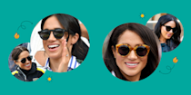 """<p>It's a known fact that any time <a href=""""https://www.cosmopolitan.com/style-beauty/fashion/g19481940/meghan-markle-best-looks/"""" rel=""""nofollow noopener"""" target=""""_blank"""" data-ylk=""""slk:Meghan Markle"""" class=""""link rapid-noclick-resp"""">Meghan Markle</a> is in public and photographed, whatever she's wearing at that moment <em>will</em> be out of stock in the blink of an eye. Grabbing a staple item in her wardrobe from its original designer is equivalent to snagging a seat at an uber exclusive Broadway performance. And unfortunately, as things often go with the royals, if you blink you could miss it. The dreaded """"out of stock"""" button appears. Black Friday and Cyber Monday shopping might be a little less stressful than buying anything that's part of the Duchess of Sussex's closet. <br><br>It's not <em>impossible </em>to be the owner of something from Meg's closet—especially if you're a fan of her eclectic and trendy sunglasses collection. Although some of her fave designs are currently sold out, there are a few out there that aren't! And the icing on the cake: They're available for reasonable prices that won't break the bank.<br><br>Ahead, some of Meghan's most iconic shades that are in stock. Right now. As we speak. And just to be extra nice, we threw in some dupes that are almost carbon copies of her go-to pairs. Ready, set, shop! <br></p>"""