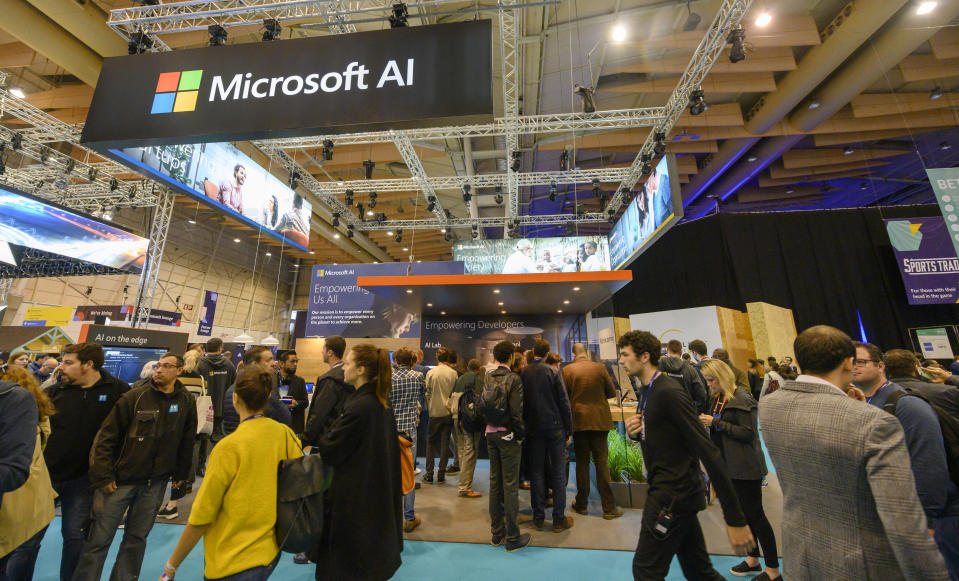 Microsoft leads the league table of companies for AI roles. Photo: Horacio Villalobos/Corbis via Getty Images