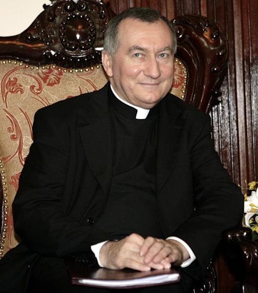 FILE - In this Feb. 19, 2009 file photo Monsignor Pietro Parolin attends a meeting in Hanoi, Vietnam. The Vatican announced Saturday, Aug. 31, 2013 that the Italian archbishop, Pietro Parolin, 58, will take up the post held since 2006 by Italian Cardinal Tarcisio Bertone, starting Oct. 15. Pope Francis has tapped a veteran Vatican diplomat to replace the Holy See's secretary of state who in recent years increasingly became a divisive figure in the Catholic church's hierarchy. (AP Photo/Tran Van Minh, file)