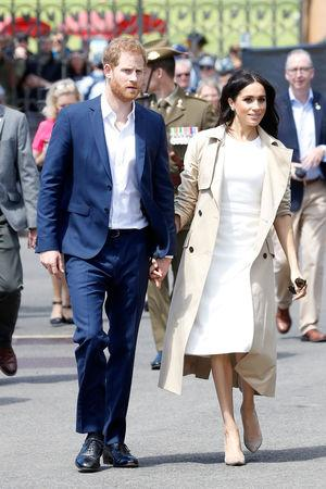 Prince Harry, Duke of Sussex and Meghan, Duchess of Sussex arrive at Man O'War Steps on October 16, 2018 in Sydney, Australia.  Chris Jackson/Pool via REUTERS