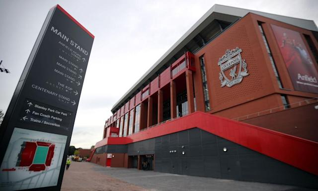 "<span class=""element-image__caption"">Liverpool are the subject of an investigation after complaints about their alleged tapping up of a schoolboy. </span> <span class=""element-image__credit"">Photograph: Peter Byrne/PA</span>"