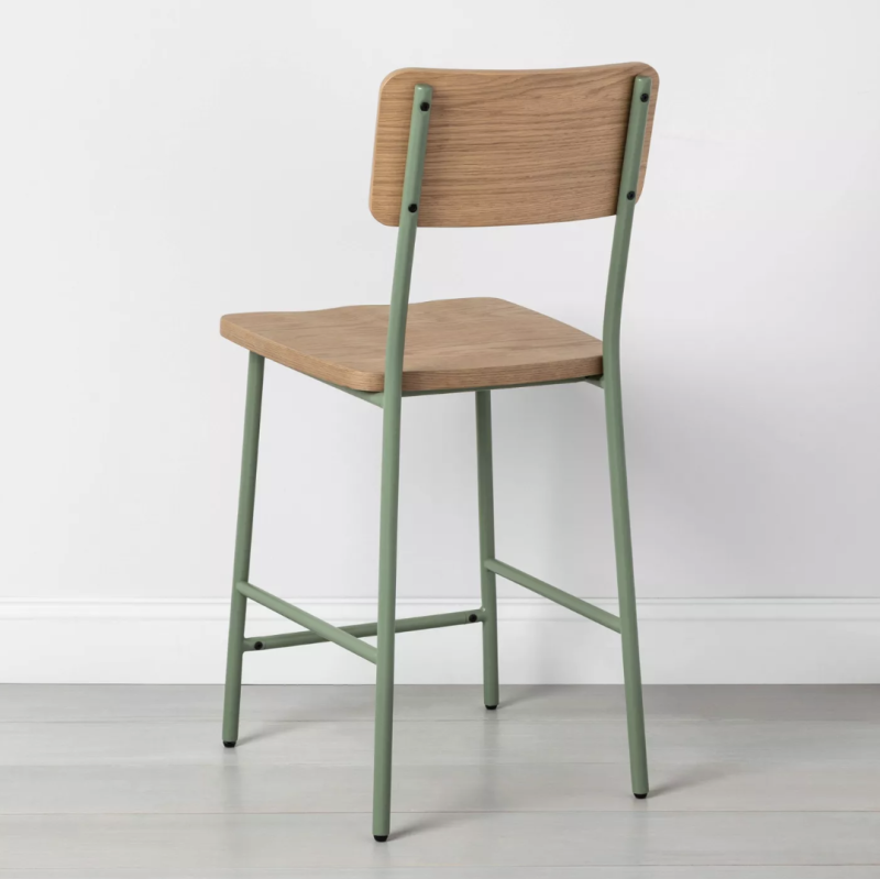 Wood & Steel Counter Stool (Credit: Target)