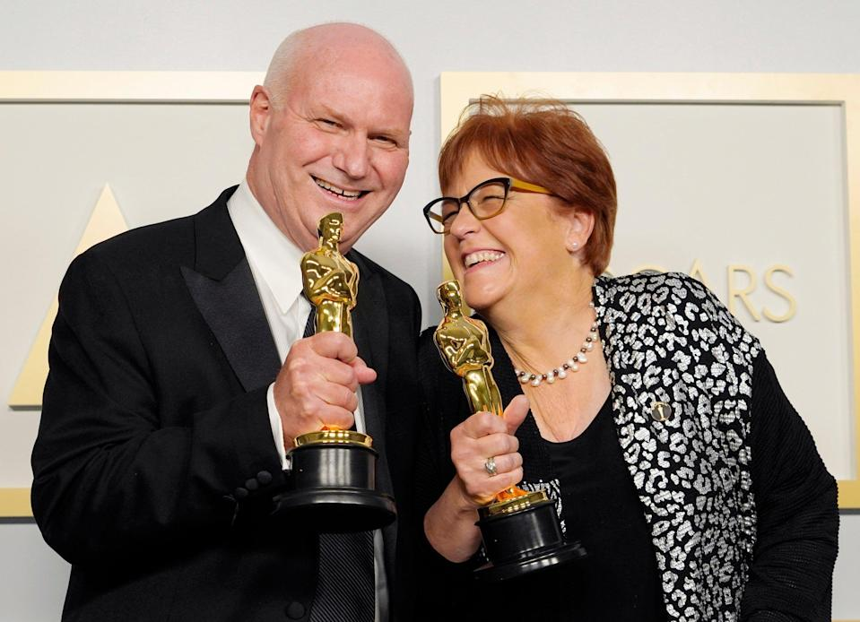 Donald Graham Burt and Jan Pascale, winners of Best Production Design for 'Mank'Getty