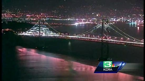 The western span of the San Francisco-Oakland Bay Bridge got spruced up with 25,000 white LED lights, transforming the gray, workhorse of a bridge into a light sculpture.