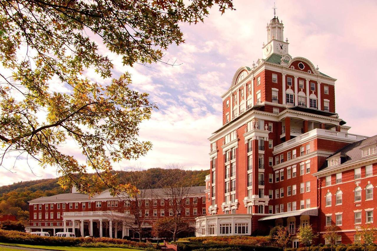 "One of the oldest resorts in the U.S., <a href=""https://www.cntraveler.com/hotels/united-states/hot-springs/the-omni-homestead--hot-springs?mbid=synd_yahoo_rss"">the Homestead</a> began life as a simple lodge as early as 1766 before evolving into a grand, European-style spa resort in the mid-1850s. In between facials and floats on the lazy river, keep an eye out for anyone asking for the time on the 14th floor—<a href=""https://www.omnihotels.com/blog/omnis-haunted-hotels/"">legend has it</a> that a jilted bride from the early 1900s still awaits her on-the-lam fiancé in the hotel."