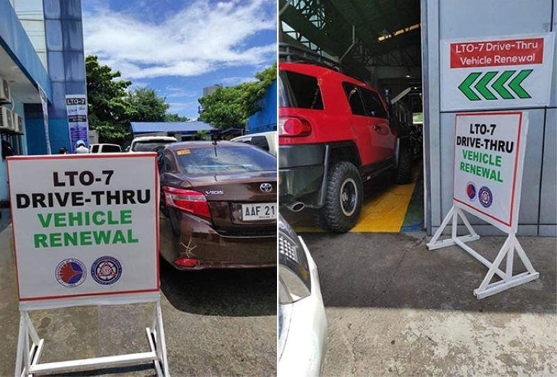 2,000 registrations renewed thru LTO 7's drive-thru service
