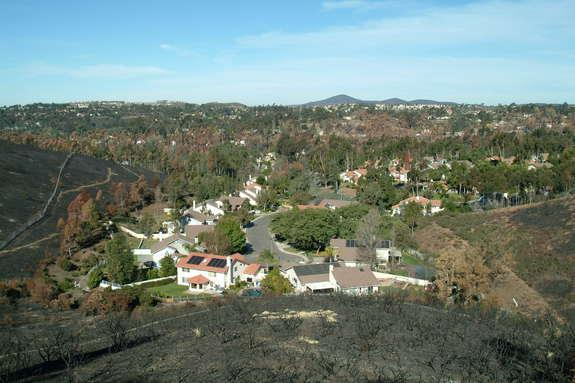 Housing location can determine the likelihood of structure loss due to wildfire.
