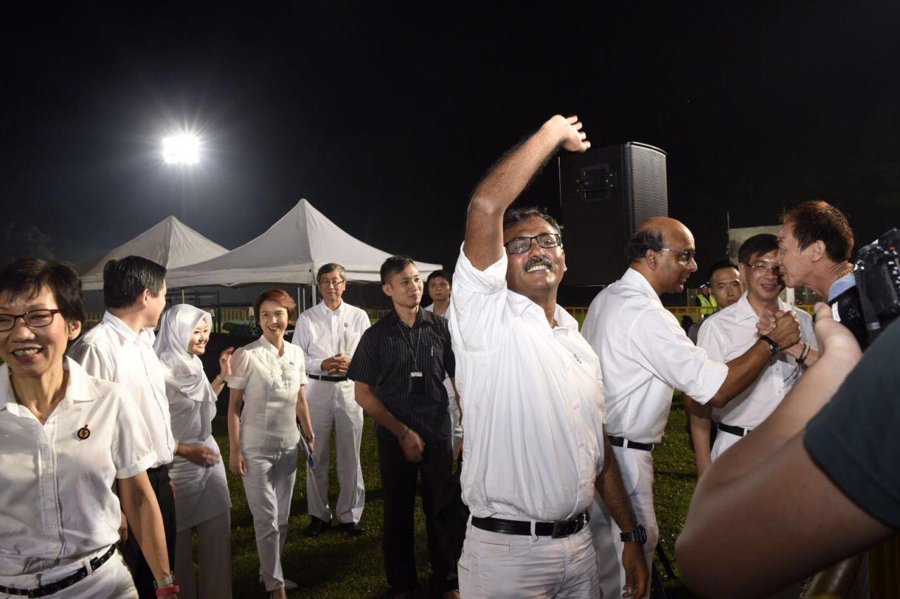 <p>PAP candidate for Bukit Batok K. Muralidharan Pillai, when asked to comment on Chee's speeches at the SDP rallies. (Photo: Safhras Khan)</p>