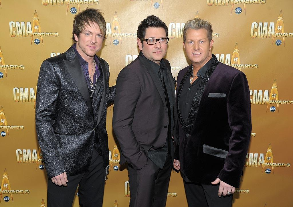 "Joe Don Rooney, Jay DeMarcus, and Gary LeVox (of Rascal Flatts fame) once again embarrassed themselves in outfits -- and haircare -- fit for Vegas lounge singers. Michael Loccisano/<a href=""http://www.wireimage.com"" target=""new"">WireImage.com</a> - November 10, 2010"
