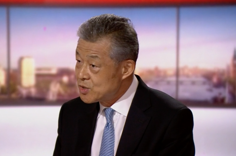 China's ambassador to the UK Liu Xiaoming said the British government had made a mistake over Huawei. (BBC)