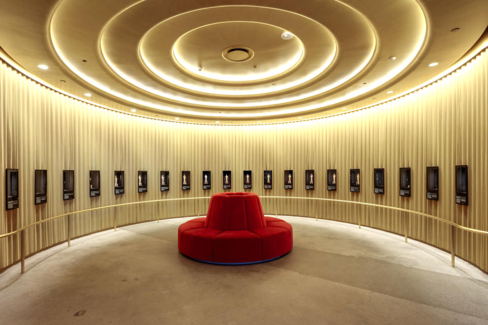 <p>The museum's Academy Awards History gallery is full of shimmering statuettes, and the nearby Oscars Experience lets visitors feel like they're walking onstage to receive an award themselves. </p>