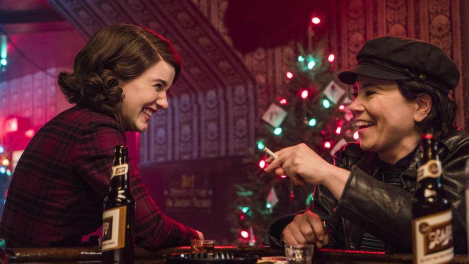 <p> Gilmore Girls creator Amy Sherman-Palladino hits another home run with a show that&#x2019;s, on the surface, cut from an entirely different cloth. The late 1950s are a tough time for women everywhere, including those like Miriam &#x201C;Midge&#x201D; Maisel (Rachel Brosnahan) on the Upper West Side, who remains under the thumb of her husband. A devoted wife who supports her husband&#x2019;s desire to be a stand-up comic, it&#x2019;s soon revealed that Midge herself has quite a gift for the gag on-stage. The show won five Emmys and two Golden Globes in its first year, with Brosnahan snagging the same Globe the following year. </p> <p> There is so much to love about Maisel. If you&#x2019;re a fan of rich storytelling that&#x2019;s not gloomy and doesn&#x2019;t involve murder (c&#x2019;mon, a LOT of prestige television is pretty downbeat) then you&#x2019;ll get a kick out of this. Brosnahan is one of the best actors working today, bringing heart, warmth, humour and a fire in her belly to the role of Midge. The best scenes are the after-hours debriefs with her friend/manager Susie, played by Family Guy&#x2019;s Alex Borstein. But make no mistake: this isn&#x2019;t a fluffy series. It&#x2019;s an R-rated show, with swears and nudity. </p>