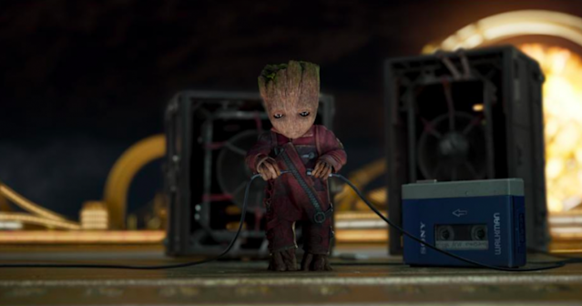 Baby Groot cranks up the Awesome Mix in <i>Guardians of the Galaxy Vol. 2</i> (Photo: Marvel Studios)