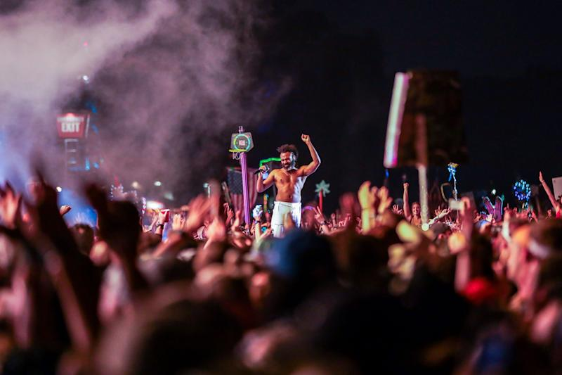 Childish Gambino performs at the What Stage at Bonnaroo June 14, 2019 in Manchester, Tenn.