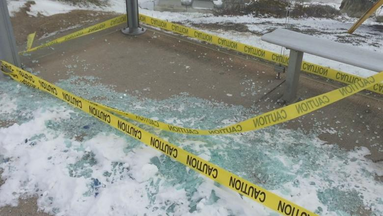 Bus shelters smashed in communities around Armdale Roundabout