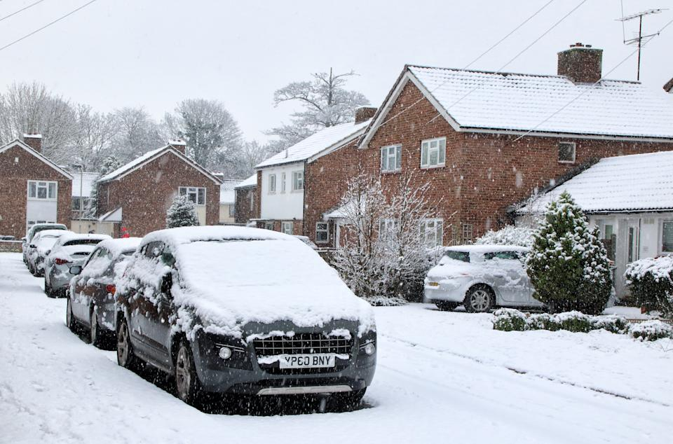 Snowfall in Bedford, UK. Photo: Keith Mayhew/SOPA Images/Sipa USA