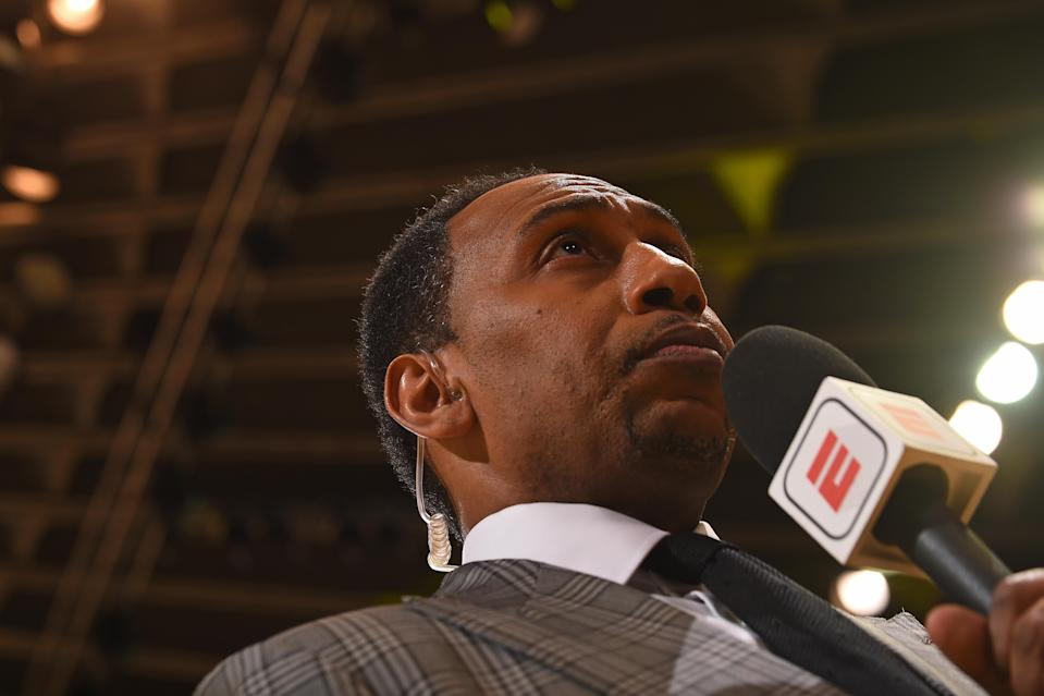 Any chance to yell about something is a good thing for Stephen A. Smith. (Getty)