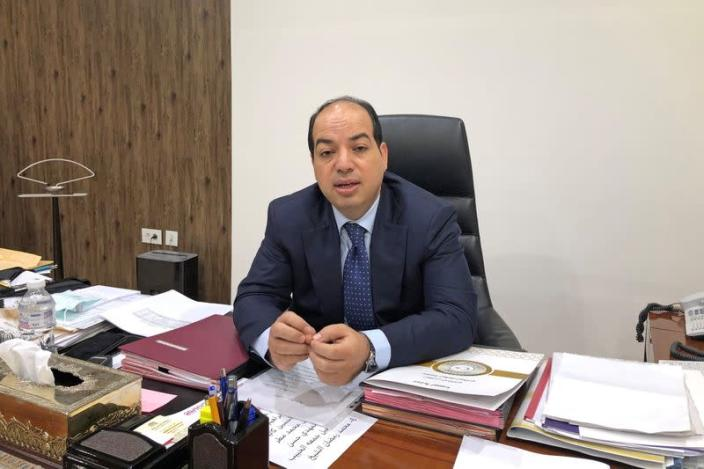 Ahmed Maiteeg, Deputy Prime Minister of the internationally recognized Government of National Accord (GNA), speaks during an interview with Reuters in Tripoli