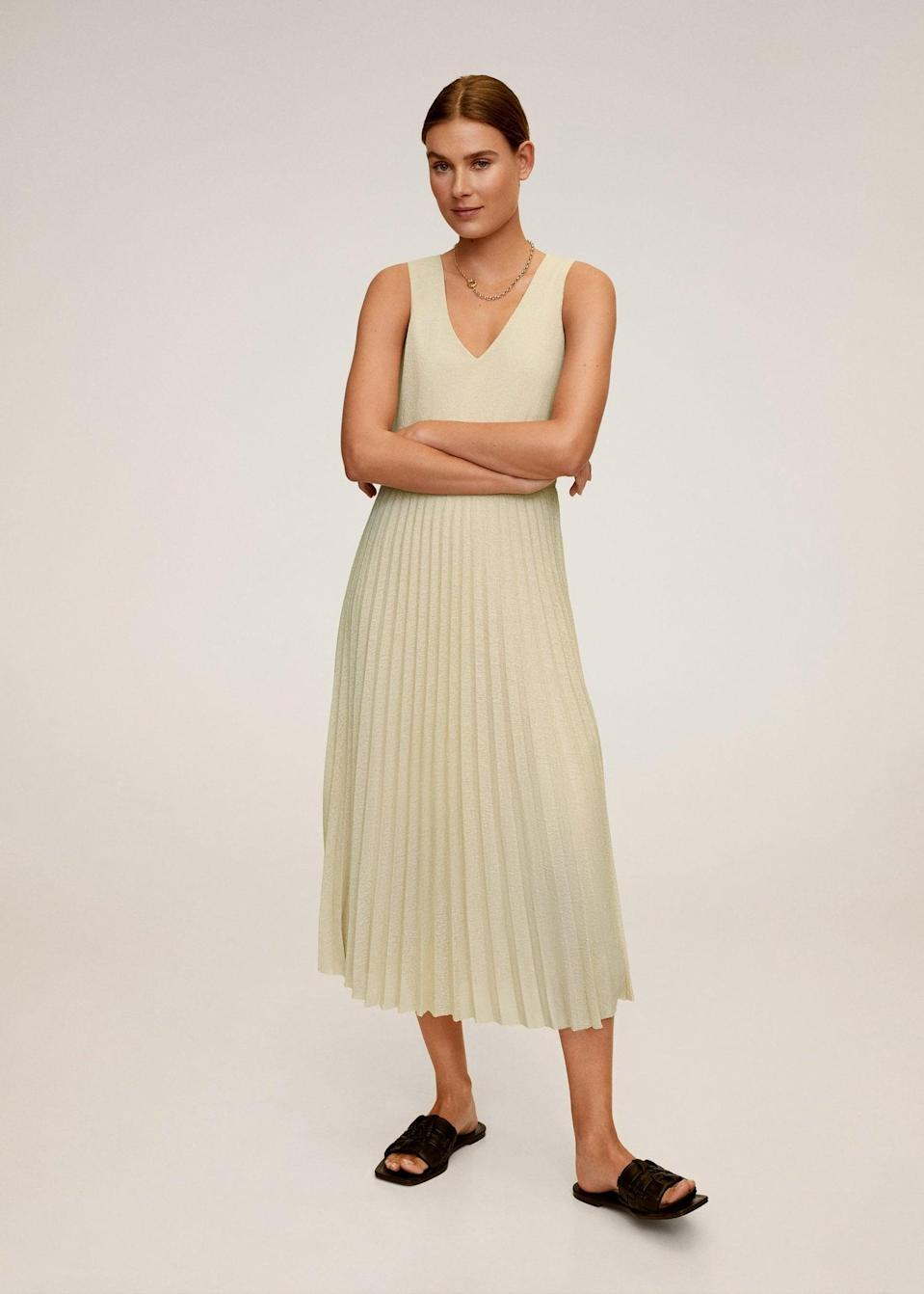 <p>This <span>Pleated midi dress</span> ($30, originally $60) adds a dose of glamour to any look.</p>