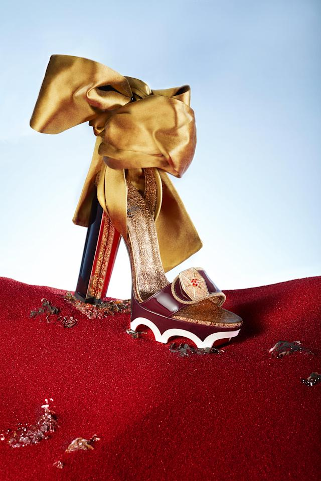 The Rose shoe from Christian Louboutin's collection for <i>Star Wars: The Last Jedi</i>. (Photo: Guillaume Fandel for Disney)