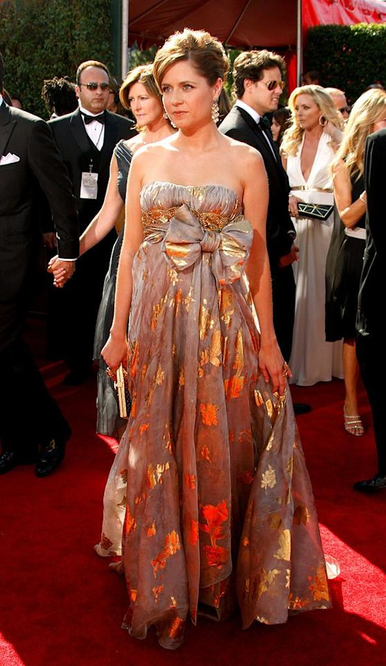 WORST: Jenna Fischer at the 59th Annual Primetime Emmy Awards in Los Angeles, California on September 16, 2007.